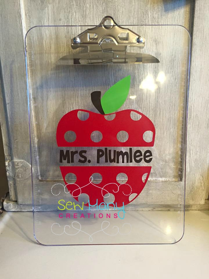 Polka Dot Apple Clipboard