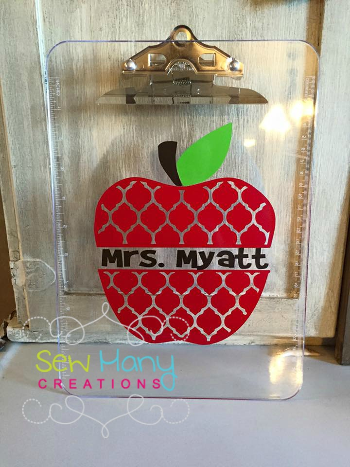Quatrefoil Apple Clipboard