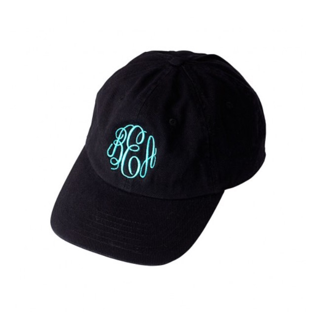 Monogrammed Black Cap